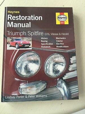 Haynes Restoration Manual Triumph Spitfire Gt6 Vitesse And Herald Mint Copy