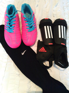 Girls Soccer Cleats, Pads, and Socks