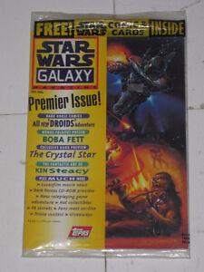 Topps Star Wars Galaxy Magazine#1 Boba Fett poster!! comic book