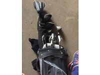 Golden bear left handed golf clubs with bag and carry attatchments
