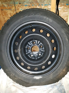 Studded winter tires 205 155R16