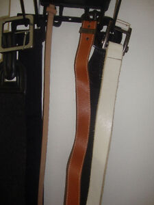 3 groups of woman leather belts.