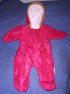 Cotton Candy Baby Girl Snowsuit Size 6-9mts