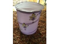 Girls Purple collapsible Laundry / Toy basket