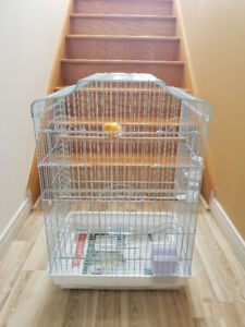 Deux  Canaris mâle et deux Cages, échange