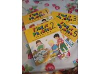 Jolly Learning Finger Phonics books 1, 2, 3 and 5 . £10