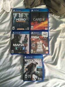 5ps4games for sale
