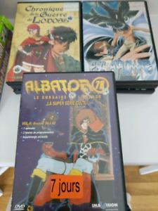 3 anime en francais , albator 78 , escaflowme, guerre de lodoss