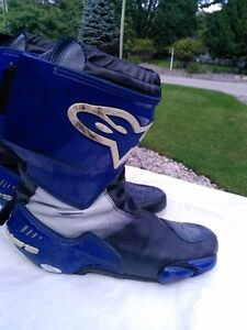 ALPINE STARS MOTORCYCLE RACE/RIDING BOOTS WITH INNER BOOT 45 Windsor Region Ontario image 1