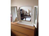 Dressing table triple vanity mirror