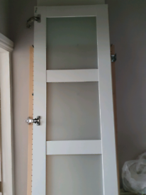IKEA pax frosted glass door