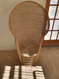 Old woven chair