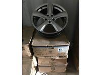 "18"" toora alloy wheels Alloys Rims tyre tyres 5x112 Seat Skoda Audi Vw Skoda Volkswagen Mercedes"