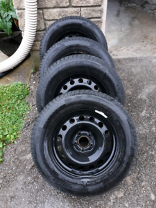 215/65R16 - *WINTER* Continental Tires on steel black rims