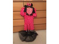 Ladies Minnie Mouse costume Halloween size 8-10