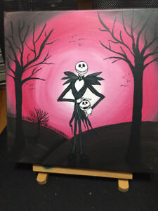 Christmas painting Jack from Nightmare Before Christmas