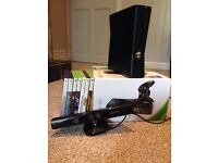 Xbox 360 with Kinect+games