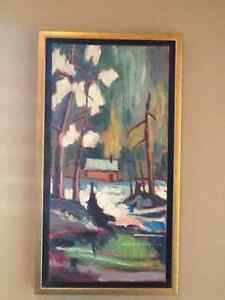 Yvon Provost Original oil painting 10 x 20 framed