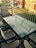 Beautiful patio table and chairs set