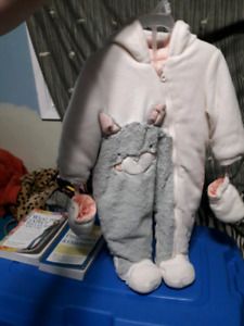 Brand new baby girl snowsuit