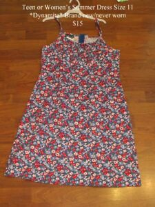 *Summer Dresses Size M (Teen or Adult) 1 New, 1 worn once.1 Dre