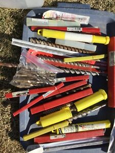 Large Lot of Concrete and Steel Drills