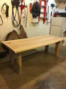 "7' x 2"" thick live edge cherry harvest table London Ontario image 1"