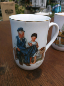 4 Norman Rockwell's cups