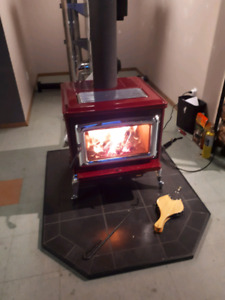 Pacific energy super classic free standing wood stove and 30ft