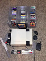Original Nintendo System with 46 games, 2 controllers, zapper.