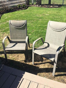 4 outdoor chairs-sold pending pickup
