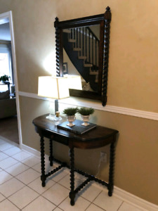 Entry door side table and  mirror