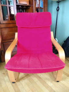 Chaise / fauteuil rouge Ikea