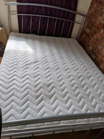 King-size bed and new mattress