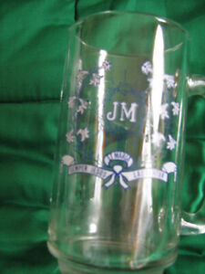 Collector New Glass MUG with Latin Script--$10.