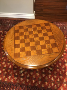 Red Brazilian Solid Wood Chess Table