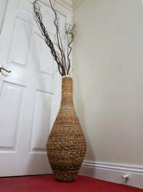 Large Handmade Woven Vase Basket