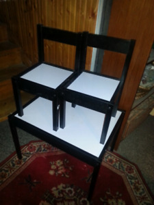 Childs table and chairs. .firm price