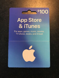 100 Dollar App Store/iTunes Gift Card