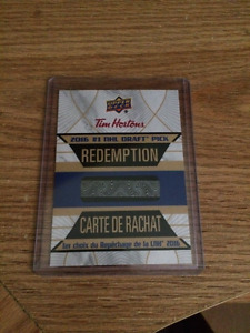 2016 NHL Draft No. 1 Draft Pick Redemption Card