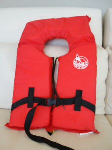Red Keep A Float Life Jacket  PFD Adult Universal Fit