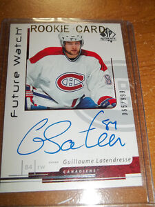 2006-07 Sp Authentic Guillaume Latendresse Auto (20$)