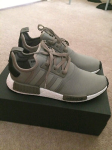 100% Deadstock Adidas NMD R1 Originals Olive size 12 w/ box.