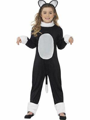 Kinder Coole Katze Kitty Kostüm Mädchen Deluxe Anzug Halloween Kostüm Buch Tag
