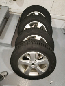 195 65 16. Pirelli winter tires on rims