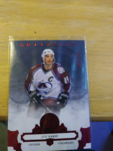 17-18 ARTIFACTS JOE SAKIC RUBY SHORTPRINT /299