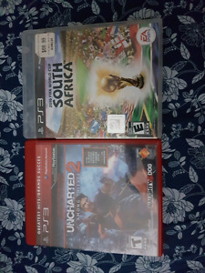 PS3 games-Uncharted 2, 2010 Fifa world Cup, Naruto SUNS3, CODAW