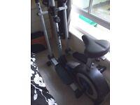 Roger black 2 in 1 cross trainer &exercise bike