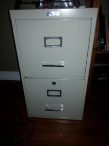 Filing Cabinet  With Folders & Folder Frame