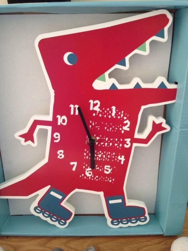 Dinosaur Was Here Wall Clock John Lewis In Chandlers